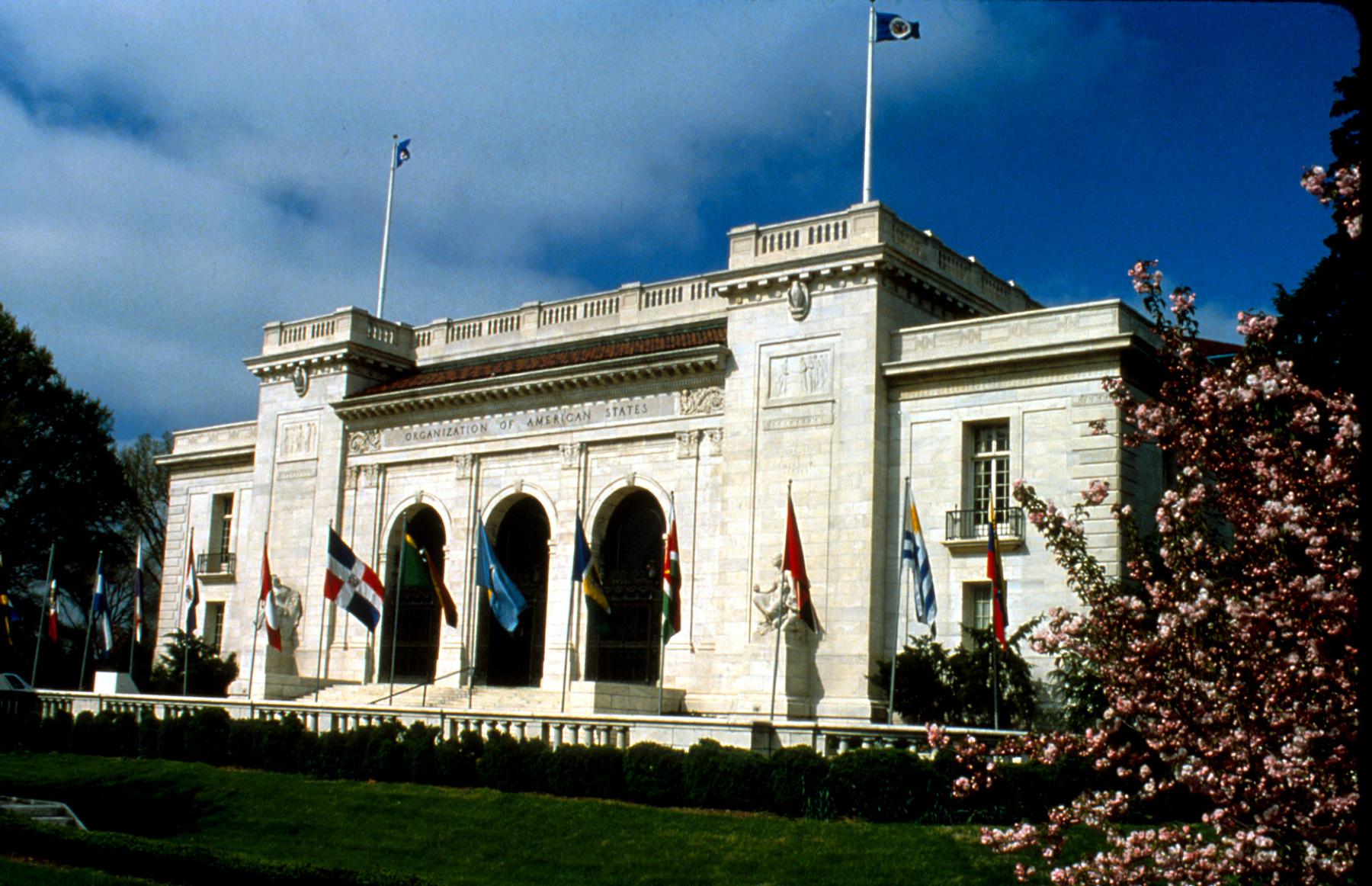 Prédio principal da Organização dos Estados Americanos (Foto:OEA).
