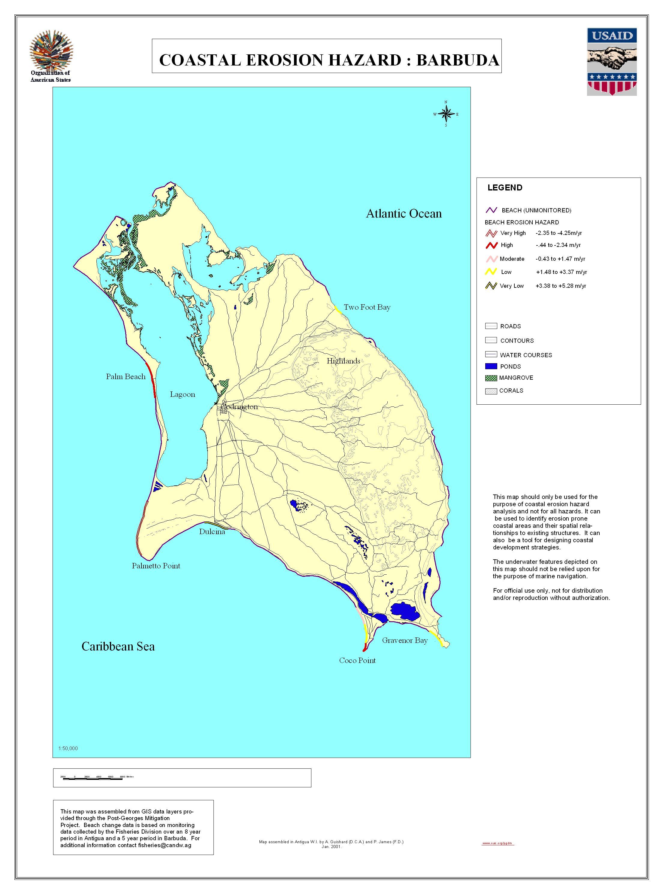 Impressum - Antigua barbuda map caribbean sea