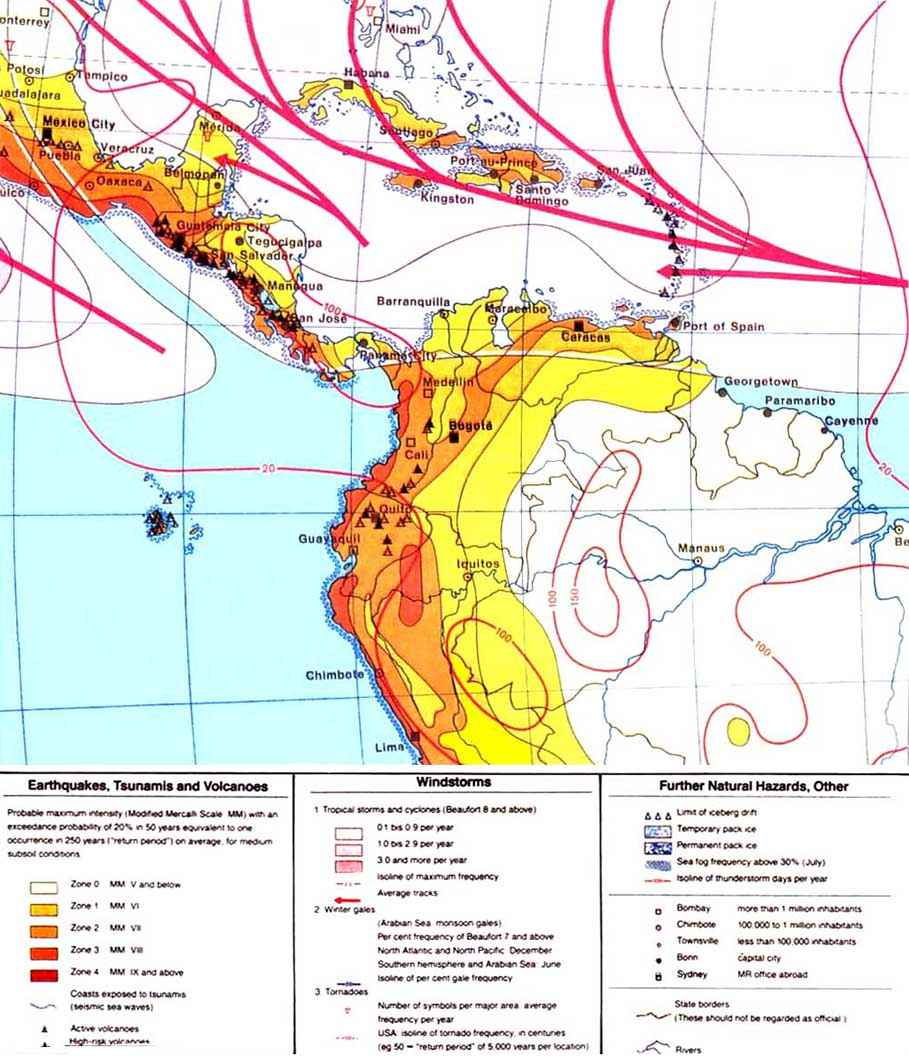 CHAPTER MULTIPLE HAZARD MAPPING - Us map potential natural disasters