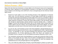 Reply of the Inter-American Commission on Human Rights to the Permanent Council of the Organization of American States