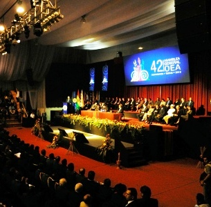 Presidium of the Opening Ceremony of the 42 OAS General Assembly