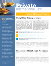 Private International Law (Latest Developments - January 2019)