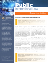 Public International Law (Recent Activities - January 2019)