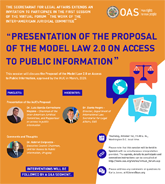 """Virtual Forum: """"Presentation of the Inter-American Juridical Committee´s Proposal of the Model Law 2.0 on Access to Public Information"""""""