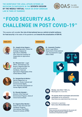 "Virtual Forum: ""Food Security as a Challenge in post COVID-19"""