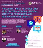 """Virtual Forum:""""Presentation of the Inter-American Juridical Committee´s Guidelines on Binding and Non-binding Agreements"""""""