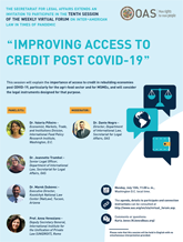 "Virtual Forum: ""Improving Access to Credit post COVID-19"""