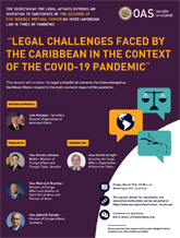 """Virtual Forum: """"Legal challenges faced by the Caribbean in the context of the COVID-19 pandemic"""""""