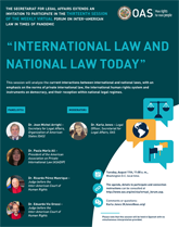 """Virtual Forum: """"International Law and National Law today"""""""