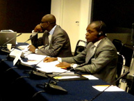 The judges of the African Court at the IACHR