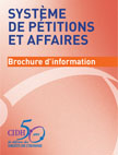 How to present a petition, brochure in French