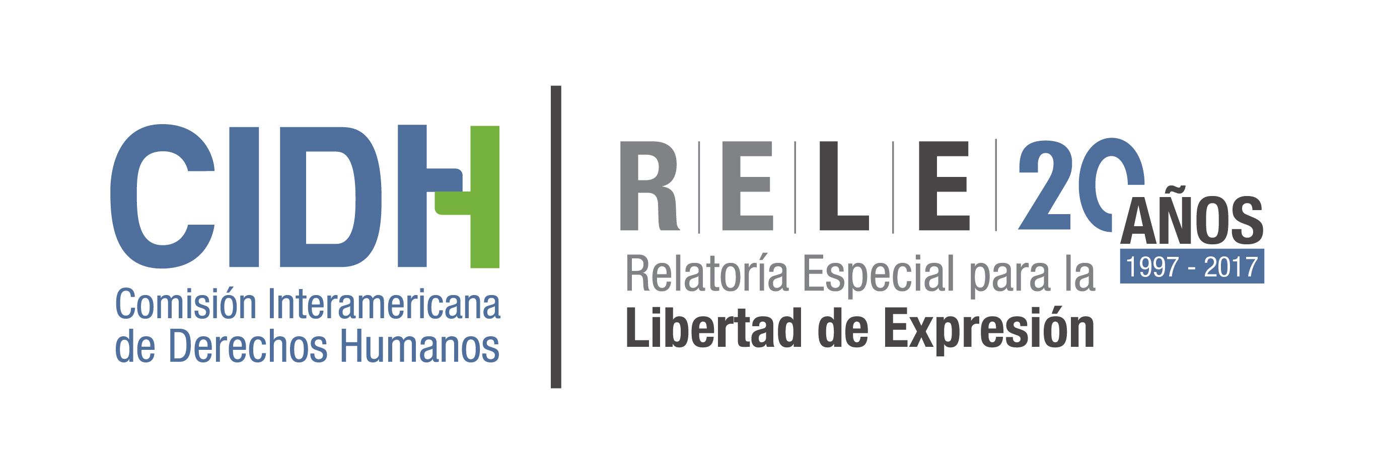 Resultado de imagen para Relatoría Especial para la Libertad de Expresión de la Comisión Interamericana de Derechos Humanos