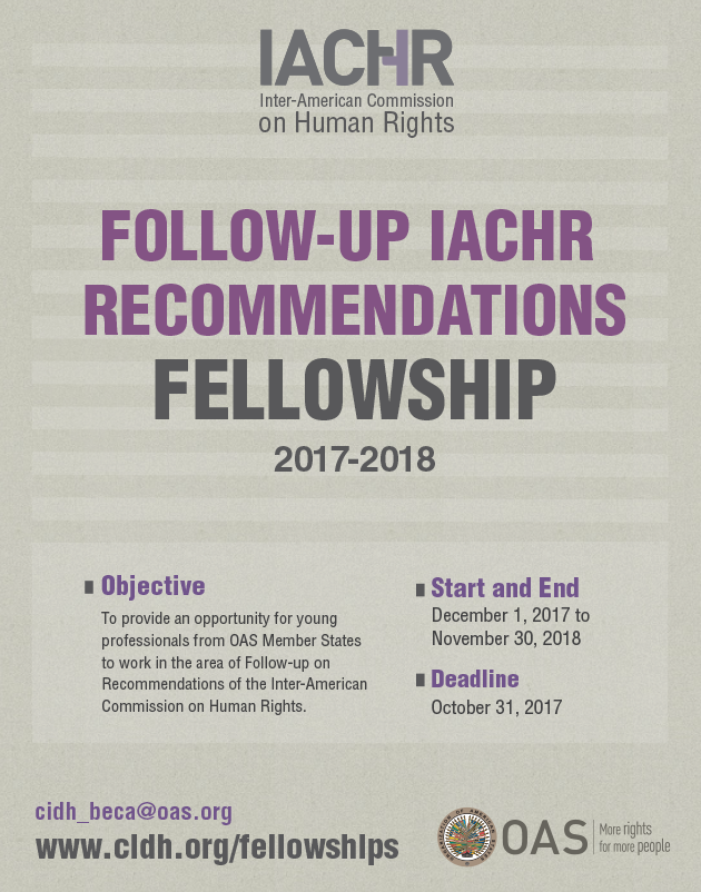 Fellowship Follow-up IACHR Recommendations