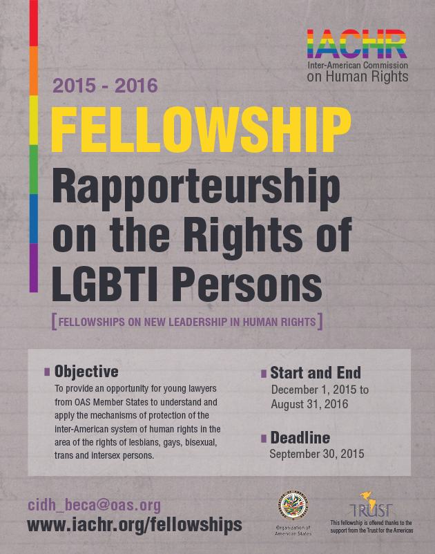 Fellowship on the Rights of Lesbian, Gay, Bisexual, Trans and Intersex Persons (LGBTI)