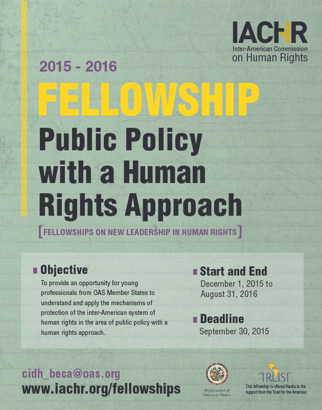 Fellowship on Public Policy with a Human Rights Approach from the Work of the IACHR