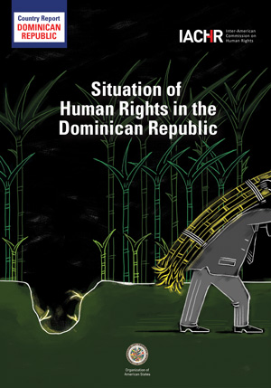 Cover of the IACHR report, Situation of Human Rights in Dominican Republic