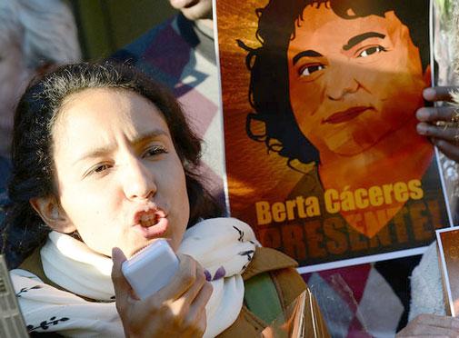 Berta Zúñiga Cáceres (daughter of the murdered human rights defender Berta Cáceres)