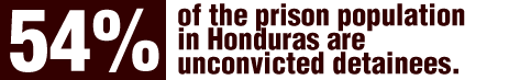 As established during the visit, 54.35% of the prison population was unconvicted