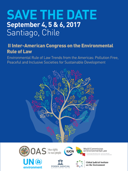 Save the date II Congreso Interamericano sobre el Estado de Derecho Ambiental