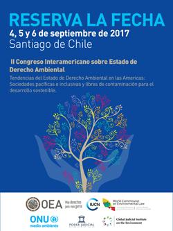 Save the date II Congreso Interamericano sobre el Estado de Derecho Ambiental