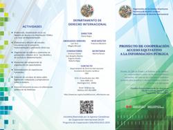 Folleto Institucional - Acceso Equitativo a la Información Pública