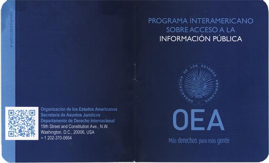 Presentación sobre el Programa Interamericano de Acceso a la Información Pública