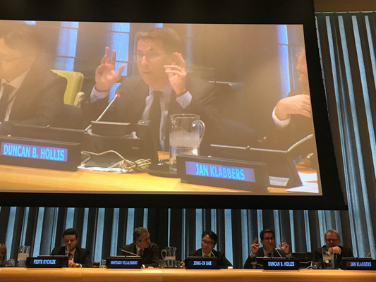 Inter-American Juridical Committee member participates in the Informal Meeting of Legal Advisers at the United Nations