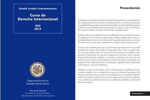 XLII Curso de Derecho Internacional disponible en nueva publicación