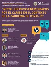 """Foro Virtual: """"Retos jurídicos enfrentados por el Caribe en el contexto de la pandemia de COVID-19"""""""