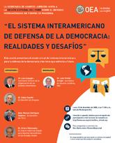 """Foro Virtual: """"El sistema interamericano de defensa de la democracia: realidades y desafíos"""""""