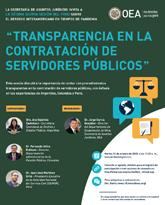 """Foro Virtual: """"La transparencia en la contratación de servidores públicos"""""""