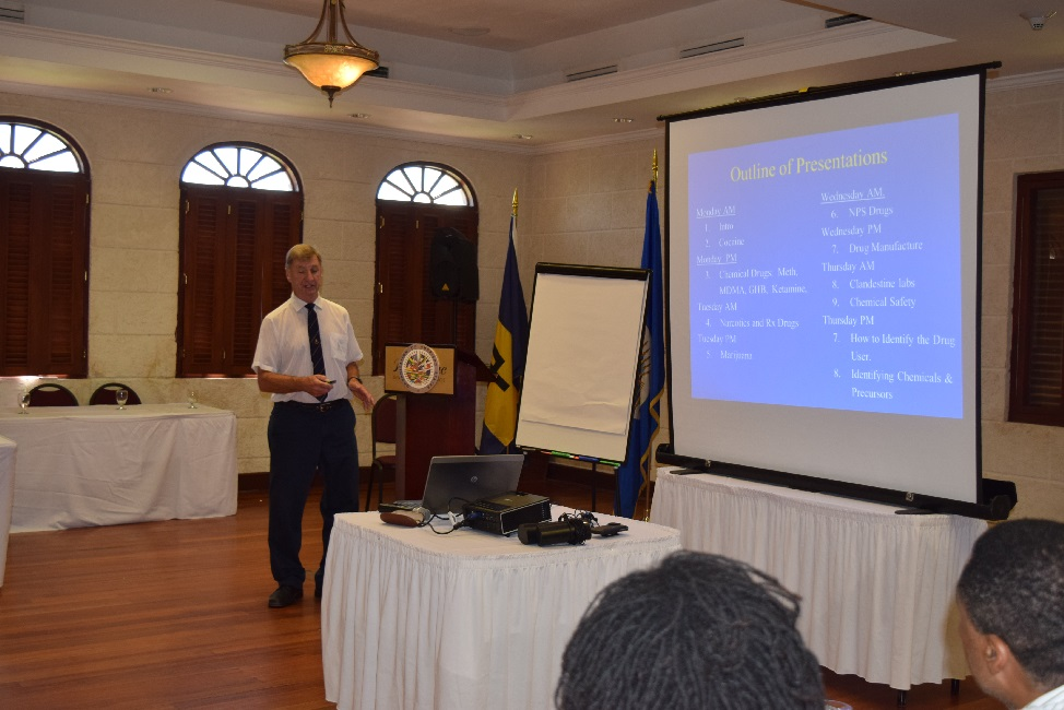 OAS CICAD National Seminar, on Illicit Drug Production, Synthetic Drugs & New Psychoactive Substance, Crane Resort Barbados Sept 21 - 24, 2015