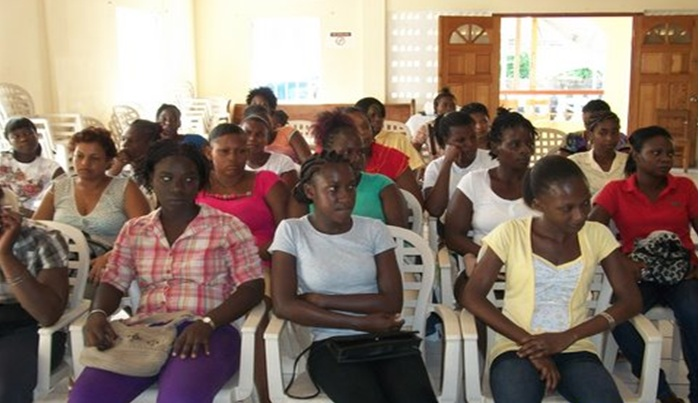 Women Participating in Pre-Training Orientation