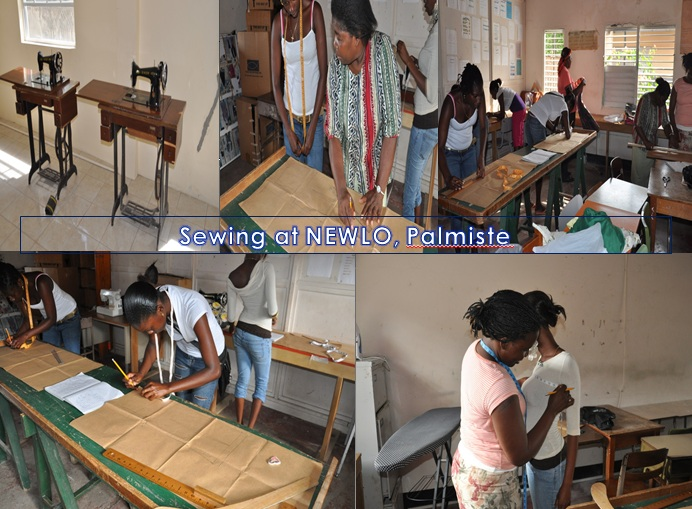Practical skills Training: Sewing Course at Palmiste and  Sauteurs