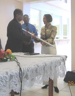 Handover of LED Light-Bulbs to Government of Saint Lucia