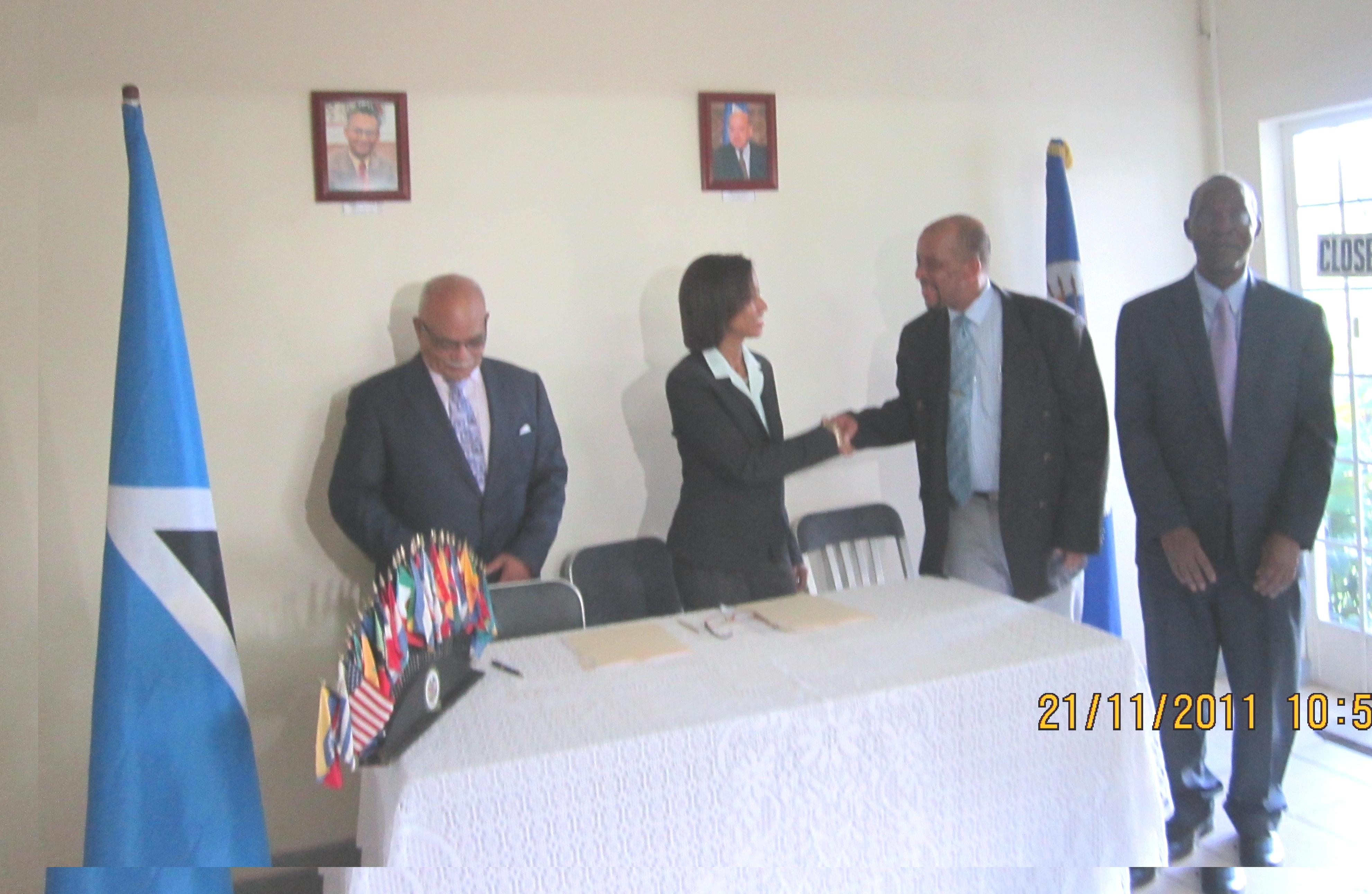 Signature of Election Observation Mission