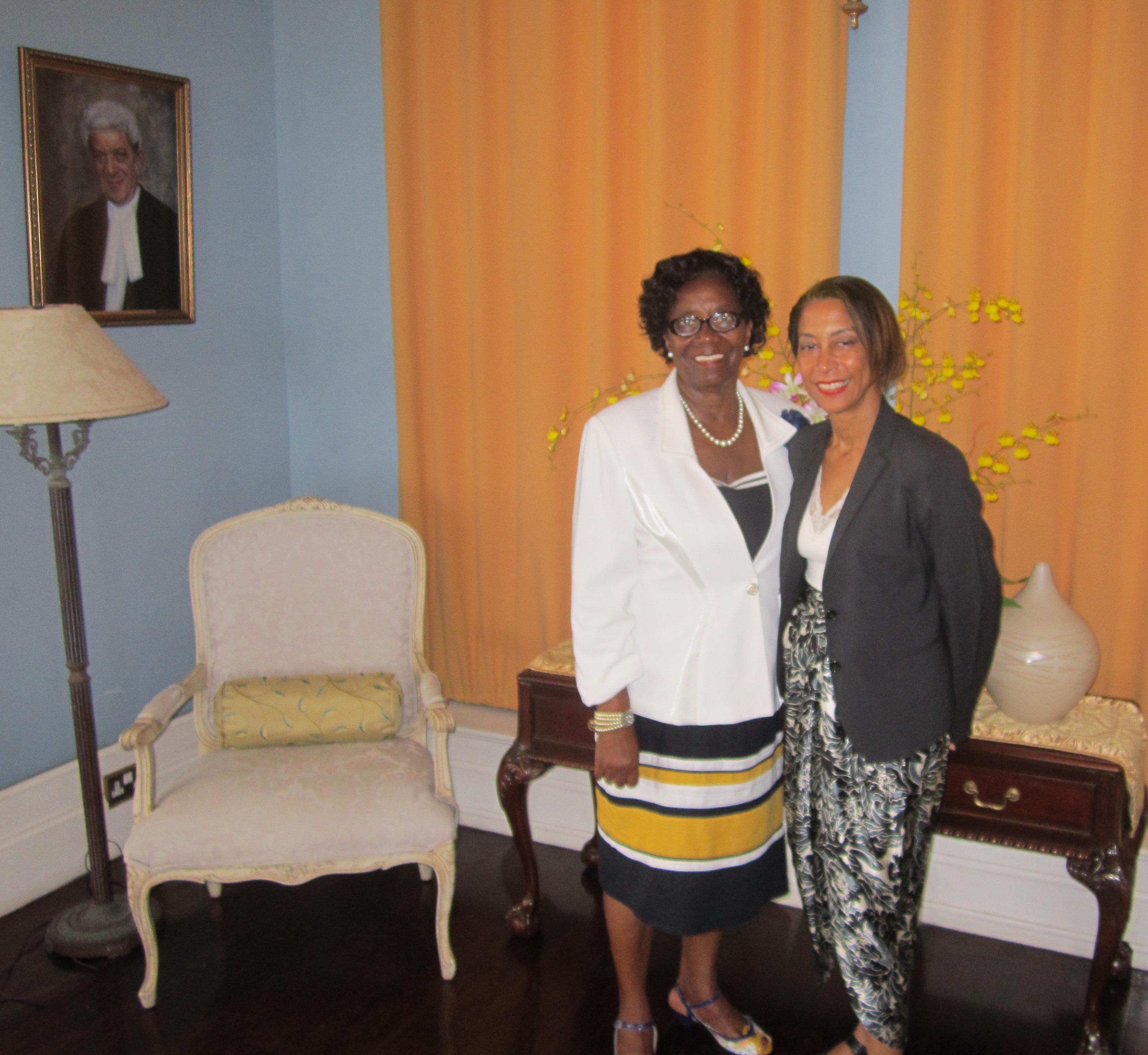 OAS Representative -Farewell Audience with Saint Lucia's Governor-General