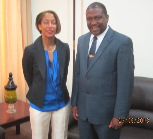 OAS Rep at Farewell Audience with Foreign Minister, Hon. Alva Baptiste