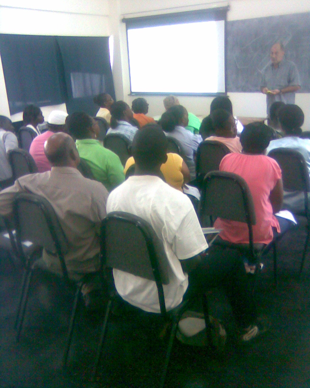 Solar Technology Project - Dr. Burkhardt in Theoretical Session on Building a Solar Drier