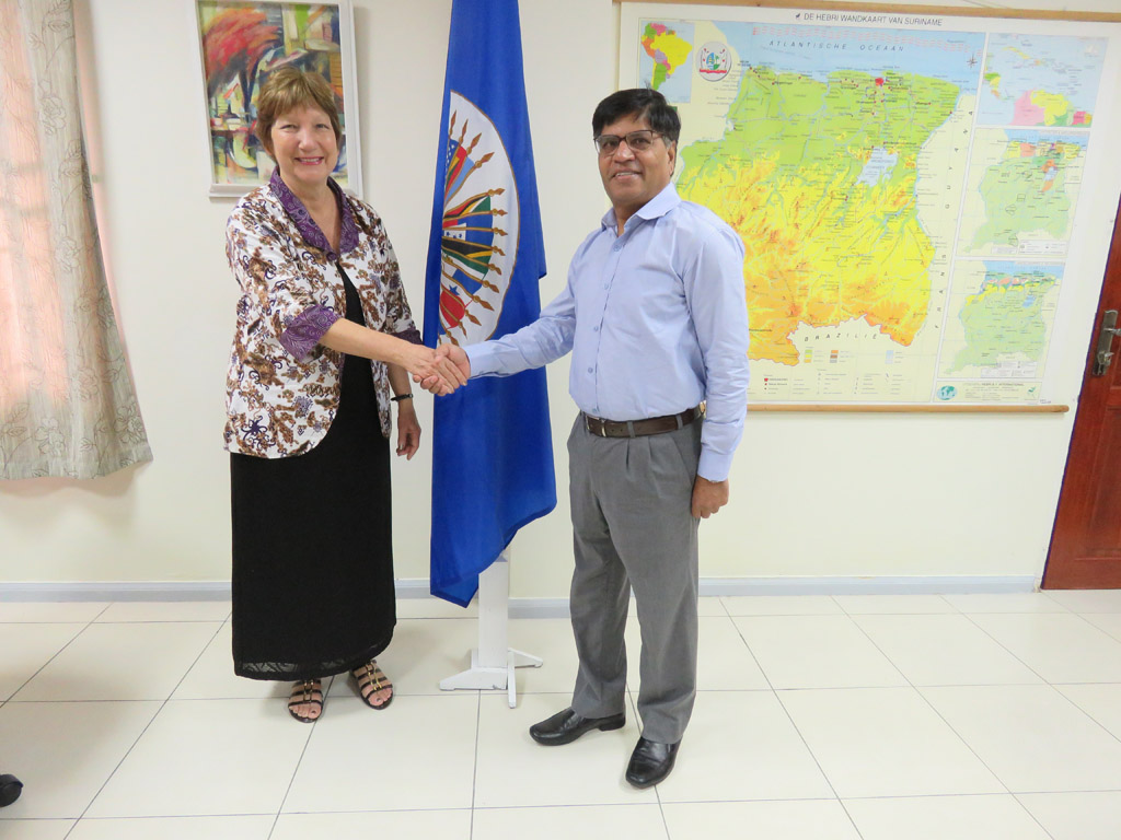 Dr. Robinson meets Ambassador Kumar, Ambassador of Indian