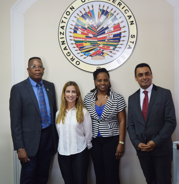 Ana Alvarez and John Grajales of OAS  Headquarters visited the OAS Barbados Office, ahead of the Initiative to Establish an Asset Recovery Inter-agency Network (ARIN in the Caribbean workshop, Nov 14, 2016