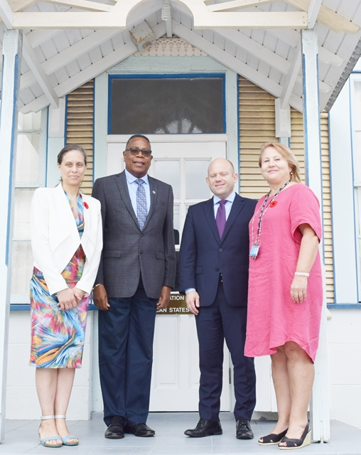 On October 30, 2018, A delegation from the High Commission of Canada paid a courtesy call on the OAS Barbados Country Representative, Francis A. McBarnette. The delegation was led by Deputy High Commissioner, Agnes Pust and included the Director and Deputy Director of the Caribbean Engagement Division in the Central American  and the Caribbean Bureau, Neal Burnham and Joelle Martin.
