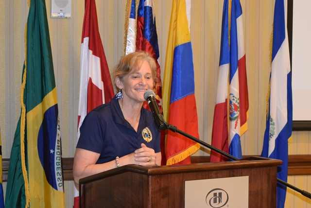 The Inter American Defense College Class of 2016, visited Barbados and held a question and answer session  with the OAS Barbados Representative Francis McBarnette at the Hilton Barbados Hotel April 28 2016