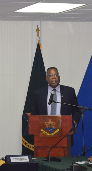Welcoming remarks by OAS Country Representative Francis McBarnette and Colonel Glyne Grannum, Chief of Staff of the Barbados Defence Force at the opening of the Barbados National workshop on gender equality in counter-drug enforcement agencies GENLEA/OAS CICAD, at the Barbados Defence Force, St. Ann's Fort the Garrison