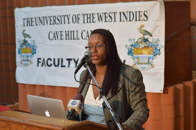 The OAS Assistant Secretary General, visit the University of the West (UWI), Cave Hill Camps Barbados to deliver a lecture at the Law Faculty of the Campus, Sept 13 2016