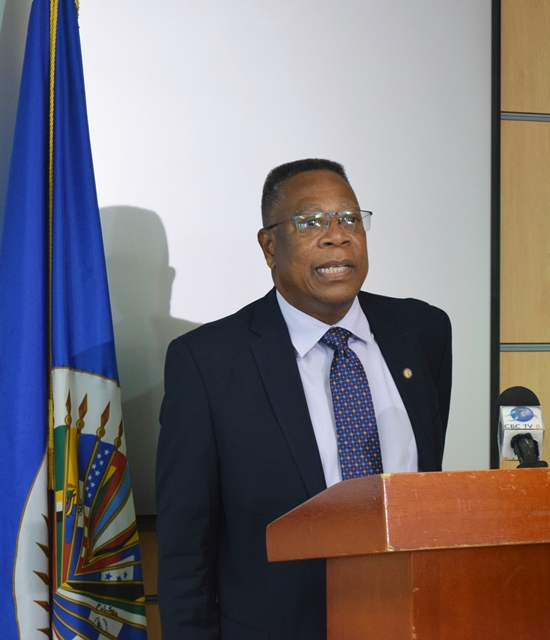 Remarks by  OAS Country Representative Francis McBarnette and Senator The Hon. Kay McConney, Minister of Innovation, Science and Smart Technology,at the opening of a training workshop,using and adapting the Arches Heritage Data Management Software,at the Data Processing Department  Baobab Towers Warrens, April 2, 2019.