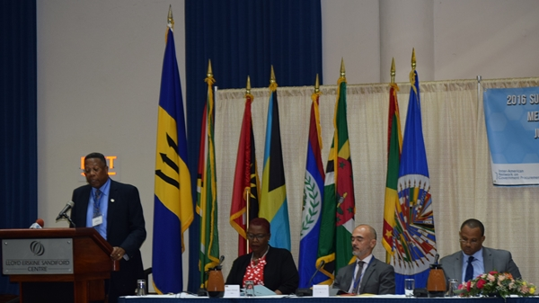 Remarks at the 3rd Sub Regional meeting of the INGP for the Caribbean in Barbados, by OAS Barbados Representative Mr. Francis McBarnette at the Lloyd Erskine Sandiford Centre. June 13th 2016