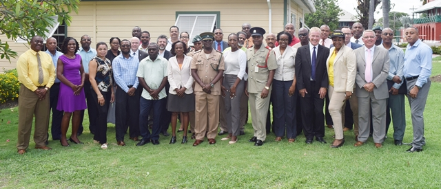 Group pictures from the OAS CICTE Tourism Security Workshop at the Barbados Defence Force (BDF) headquarters June 30 2017