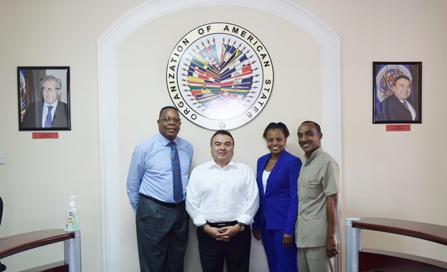 The OAS Assistant Secretary General H.E. Nestor Mendes visit the OAS Barbados Country  Office