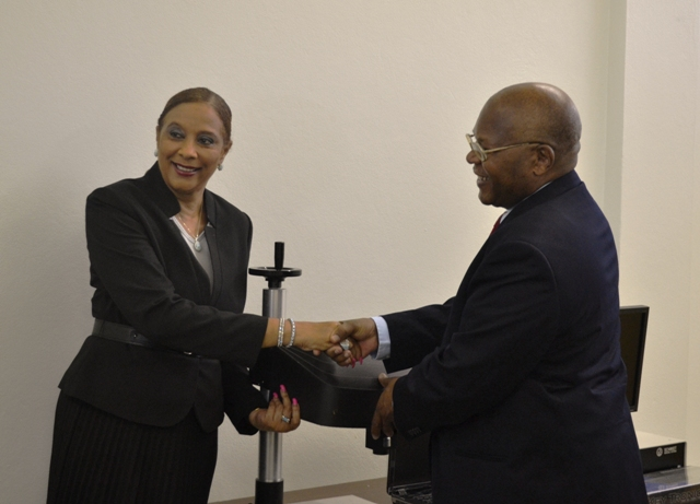 Handing over ceremony for Dot Peen Markers (Promoting Firearms marking in Latin America and the Caribbean)
